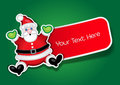 Santa Claus label, sticker Royalty Free Stock Photography
