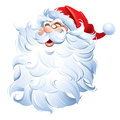 Santa claus laughing ho ho ho comes with eps file cmyk jpg and rgb jpg with clipping path only simple gradient no meshes Royalty Free Stock Photo