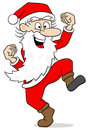 Santa claus leaping for joy Royalty Free Stock Photo