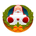 Santa claus and letter Royalty Free Stock Photography