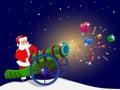 Santa Claus With A Magic Gun.
