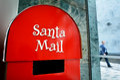 Santa Claus Mail Box on Christmas (Xmas) holiday Royalty Free Stock Photo