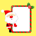 Santa Claus mascot the event activity Royalty Free Stock Photo