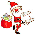 Santa Claus mascot the event activity. Christmas Character Desig Stock Images
