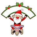 Santa Claus mascot the event activity. Christmas Character Desig Stock Photo