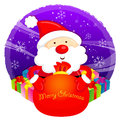 Santa Claus mascot the event activity. Christmas Character Desig Royalty Free Stock Image