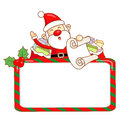 Santa Claus mascot the event activity. Christmas Character Desig Royalty Free Stock Photos