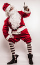 Santa claus men in costume studio photo Stock Photo