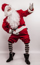 Santa claus men in costume studio photo Royalty Free Stock Photography