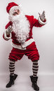 Santa claus men in costume studio photo Royalty Free Stock Photos
