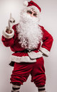 Santa claus men in costume studio photo Royalty Free Stock Image