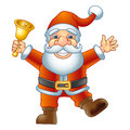Santa claus merry christmas ho ho ho with a handbell vector illustration Royalty Free Stock Photo