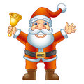 Santa claus merry christmas ho ho ho with a handbell vector illustration Royalty Free Stock Photos