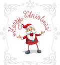 Santa claus merry christmas vector cartoon Arkivfoto