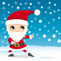 Santa Claus Ninja Stock Photo