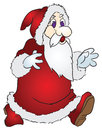Santa claus is an old man with a white beard in a red coat stock cartoon Royalty Free Stock Image