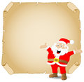Santa claus and old parchment vector illustration of Stock Image