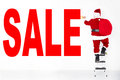 Santa claus painting sale on the   wall Royalty Free Stock Photo