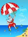 Santa Claus - parachutist. Stock Images