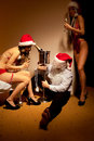 Santa Claus is Passed out Drunk Royalty Free Stock Photo