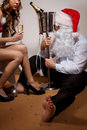 Santa Claus is Passed out Drunk Stock Photography