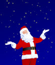 Santa Claus Playing With Stars Royalty Free Stock Photo