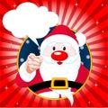 Santa Claus pointing Royalty Free Stock Photo