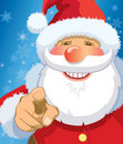 Santa Claus pointing Royalty Free Stock Photo