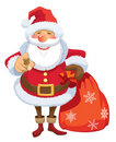 Santa Claus pointing Royalty Free Stock Images