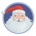 Santa claus portrait of with a big beard Stock Images