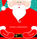 Santa claus present and massege merry christmas Royalty Free Stock Image