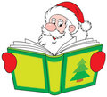 Santa Claus reading the book Stock Image