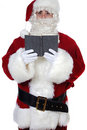 Santa Claus reading a book Royalty Free Stock Image