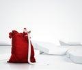 Santa Claus reading long list