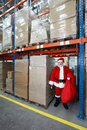 Santa Claus ready for Christmas Royalty Free Stock Photo