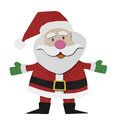 Santa claus recycled papercraft. Royalty Free Stock Photo