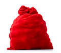 Santa Claus red bag full, on white background Royalty Free Stock Photo