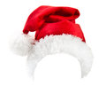 Santa claus red hat isolated on white background Royalty Free Stock Photography