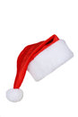 Santa Claus red hat isolated on white background Royalty Free Stock Photo