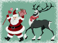 Santa Claus and reindeer Royalty Free Stock Photo