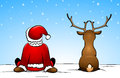 Santa Claus and a reindeer Royalty Free Stock Image
