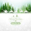 Santa claus with reindeer winter forest and Royalty Free Stock Photos