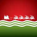 Santa Claus rides in a reindeer sleigh Royalty Free Stock Photo