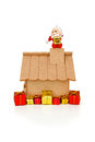 Santa Claus on roof Stock Images