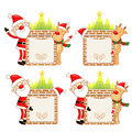 Santa Claus and Rudolph mascot the event activity Stock Image