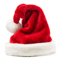 Santa claus s hat isolated on white Stock Photos