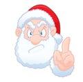 Santa Claus says no Royalty Free Stock Photo