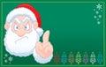 Santa Claus says no christmas card Royalty Free Stock Photo