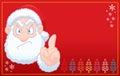 Santa Claus says no christmas RED card Royalty Free Stock Photo