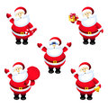 Santa claus set is a illustration Royalty Free Stock Photos